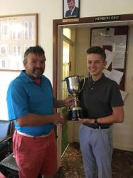 Aled Lewis Claiming the Harold Johnson Cup (36 Hole Net Medal) - September 2017